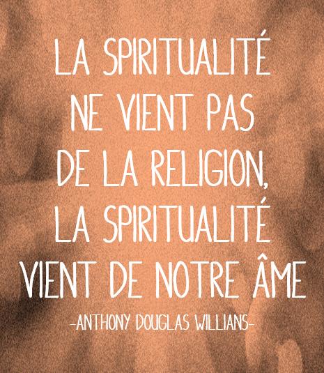 spiritualité et religion